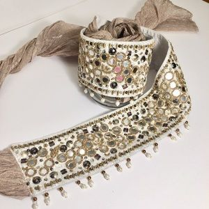 Beaded Banjara Mirrored Boho Festival Sash Belt